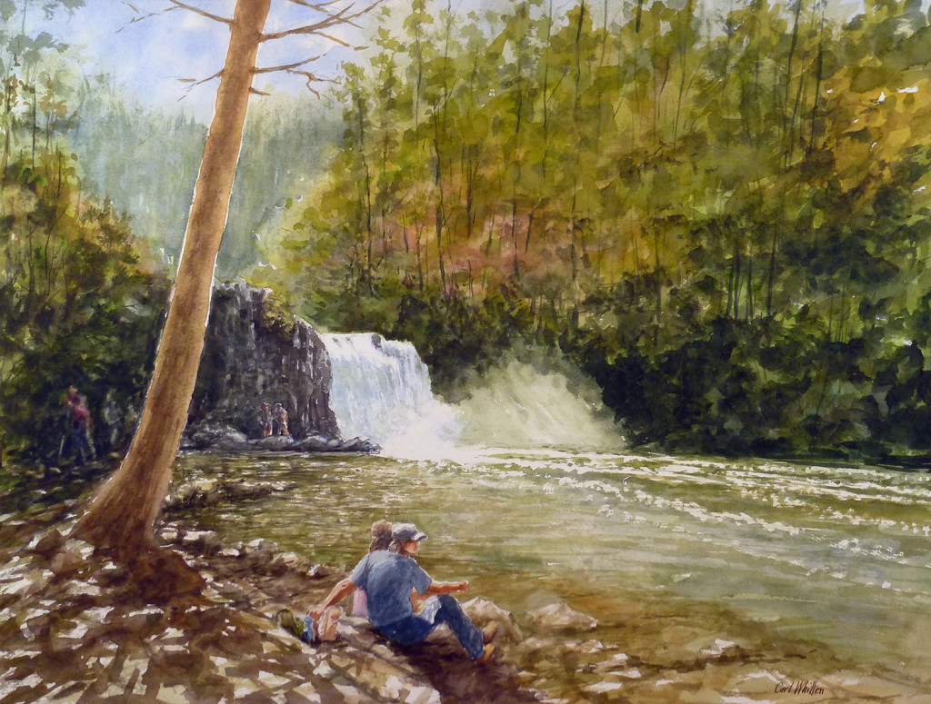 "Carl Whitten ""Hiker's Reward, Abrams Falls"""