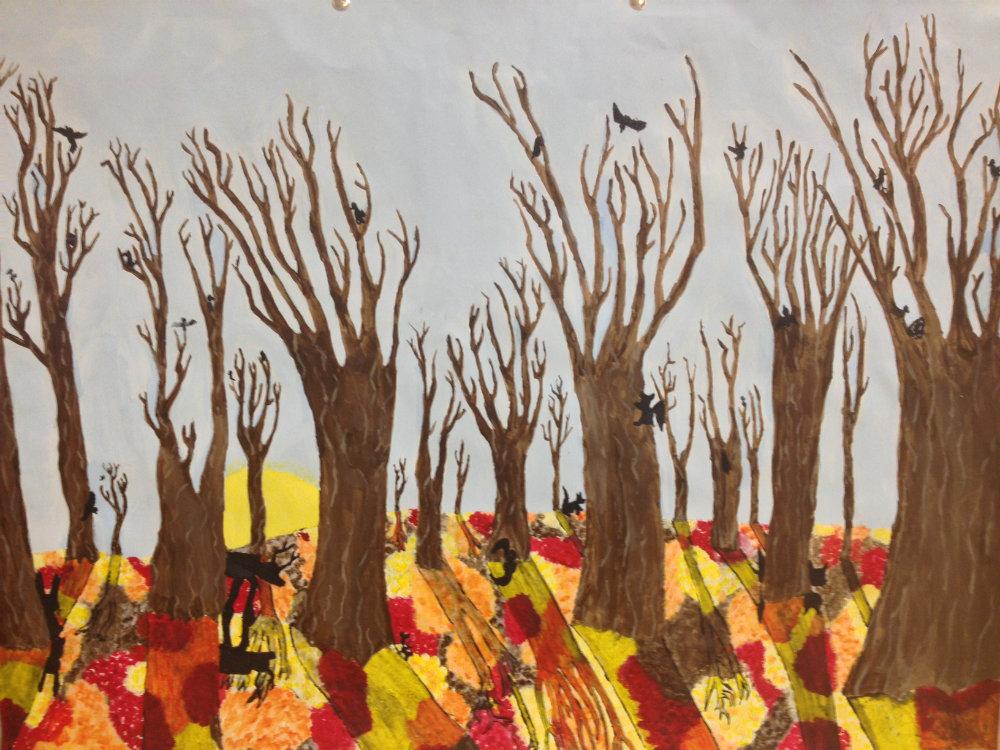 "Elizabeth Paul ""Silhouettes in Fall"""