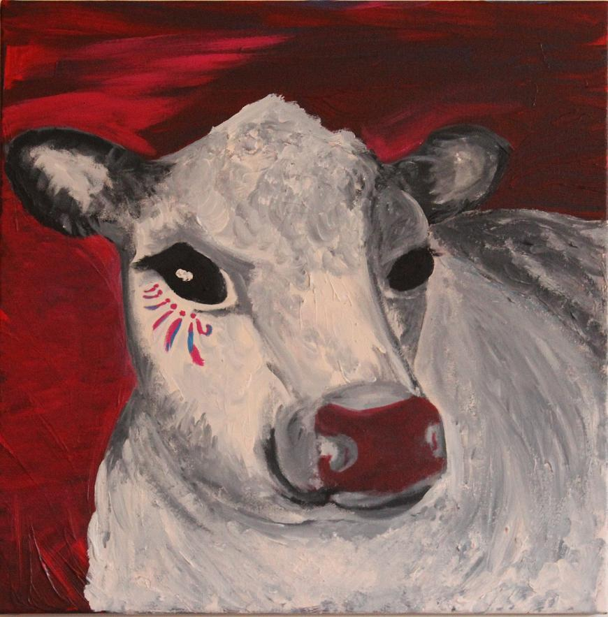 "Mary Bow ""Cow with Face Paint"""
